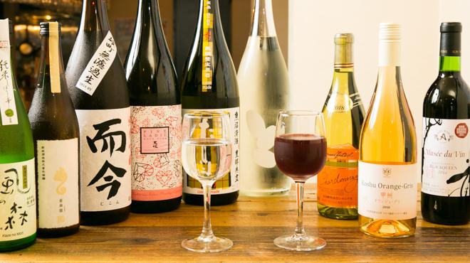 日本酒 ト ワイン 岡野 - メイン写真:日本酒+日本ワイン