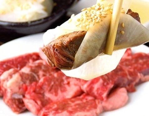 焼肉TABLEさんたま - 料理写真:牛ハラミを大根酢で巻いて。やみつき