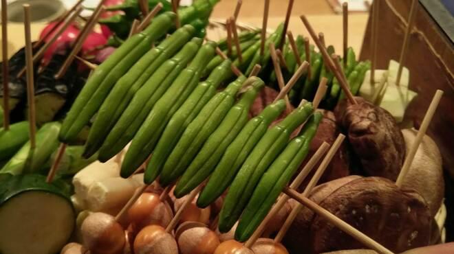 白金 酉玉 - 料理写真:季節の焼き野菜は焼き鳥の合間に。