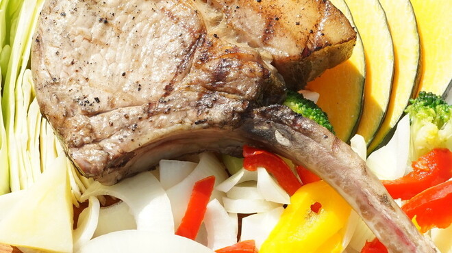 BBQ&ビアガーデン Bony Chops - 料理写真:茶美豚トマホークステーキ