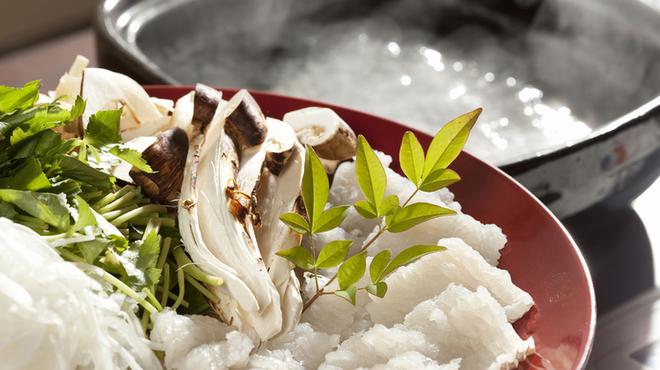 貝と魚と日本酒 貝男  - 料理写真:夏限定!鱧しゃぶコース