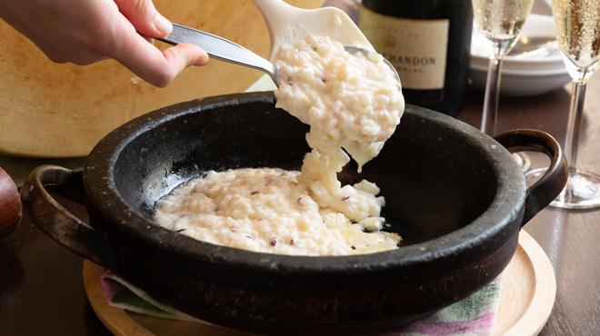 アンジェロ&ミカエル - 料理写真:石焼きチーズリゾット
