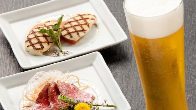 但馬牛いろりダイニング三國 - ドリンク写真:生ビールはエビス!ビールは泡が命!