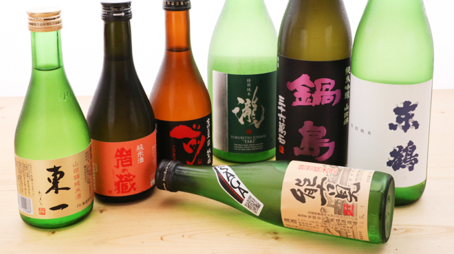 もつ蔵 - メイン写真:日本酒集合