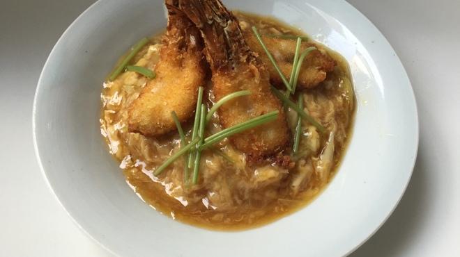 越前蟹の坊 - 料理写真:ガサ海老カツ丼(小)