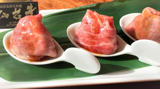 陽山道 - 料理写真:毎日完売!人気の「一口炙りサーロイン」