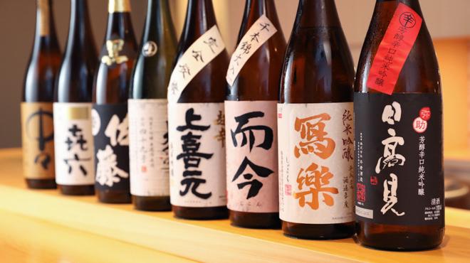 鮨 大和 - メイン写真:日本酒ボトル集合