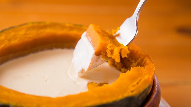 ほく菜 - メイン写真:かぼちゃのチーズフォンデュ