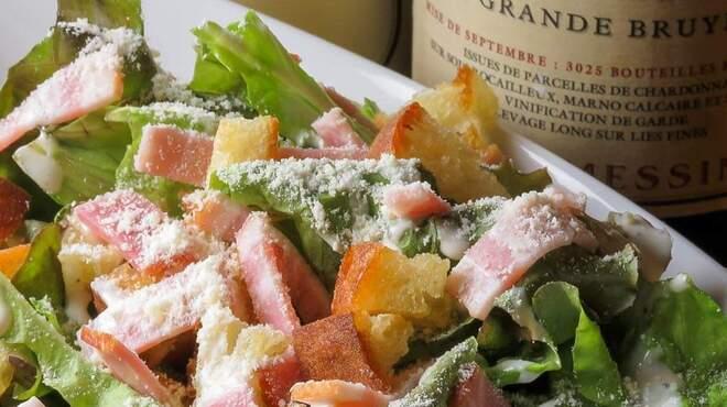 肉フレンチビストロGowanfure - 料理写真:カリカリクルトンのシーザーサラダ