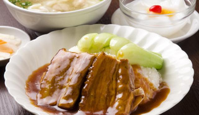 好記園 - 料理写真:ブタバラの煮込みかけご飯セット  850円