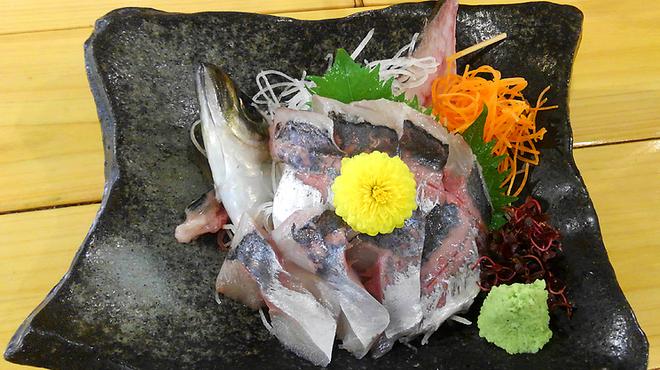 海鮮居酒屋 天秤棒 - 料理写真:泳ぎアジ造り