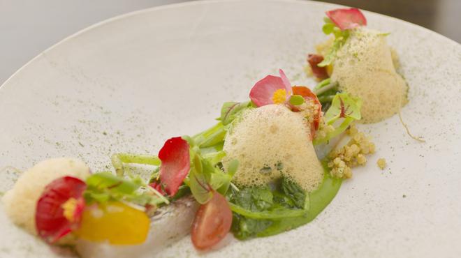 フランス料理 サンク - 料理写真:前菜:太刀魚