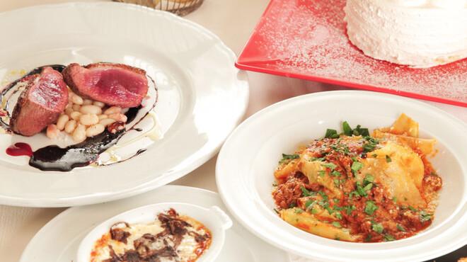 VIA Brianza - 料理写真:コースメニュー一例