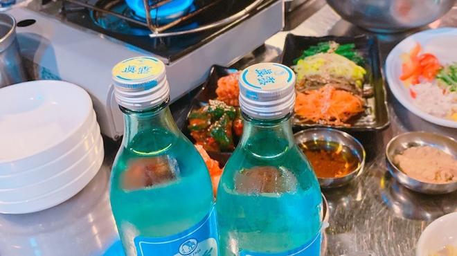小さな韓国 あぷろ - 料理写真:サムギョプサルと韓国酒セット
