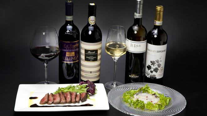 ラ・ストラーダ - ドリンク写真:イタリア産ワイン多数あります。