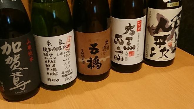 COVO イタリアンと日本酒のお店 - ドリンク写真:加賀鳶 亀泉 五橋 大黒正宗 醸し人九平次