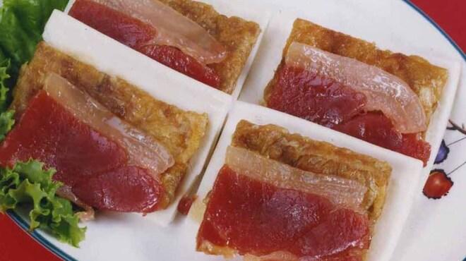 紅爐餐廳 - 料理写真:密汁火腿 台湾生ハムと揚げゆばのパン包み