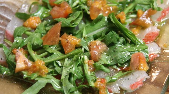 ボルネ - 料理写真:静岡県下田直送!金目鯛のカルパッチョ