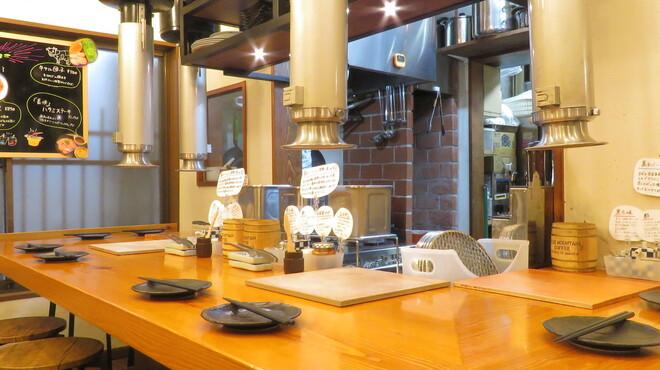 炭火焼肉ホルモン 裏ネバーランド - 内観写真:お一人様大歓迎のカウンター席です。L字ご利用いただく事で最大4名様までご対応可能です!