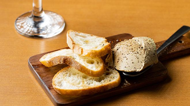 籃らん - 料理写真:レバーペースト・赤ワイン