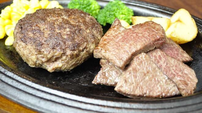 大井町銭場精肉店 - 料理写真:和牛100%ハンバーグとカットステーキ 1980円