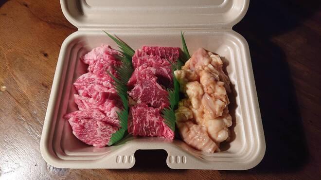 駅北酒場 肉山田肉男 - 料理写真:肉男セット(カルビ・ハラミ・てっちゃん)