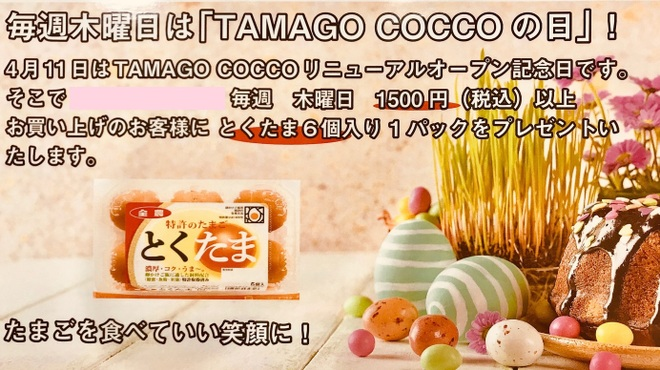 TAMAGO COCCO - メイン写真: