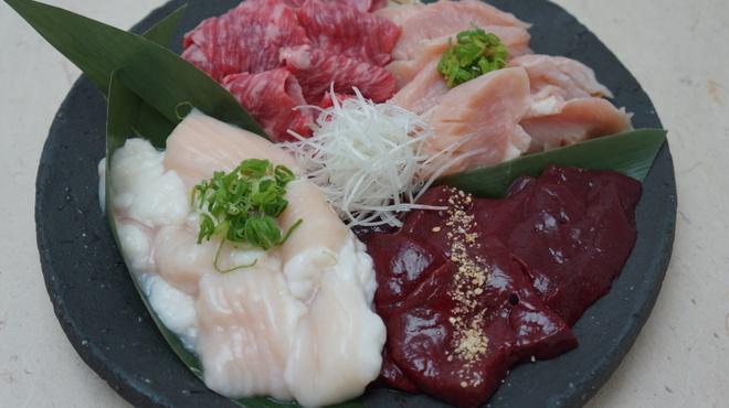 新羅会館 家族亭 - 料理写真:焼肉セット「ホルモンセット 400g」