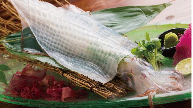 魚平 - 料理写真:いか活き造り(要予約)