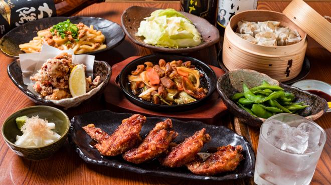 手羽だるま - 料理写真:コース料理