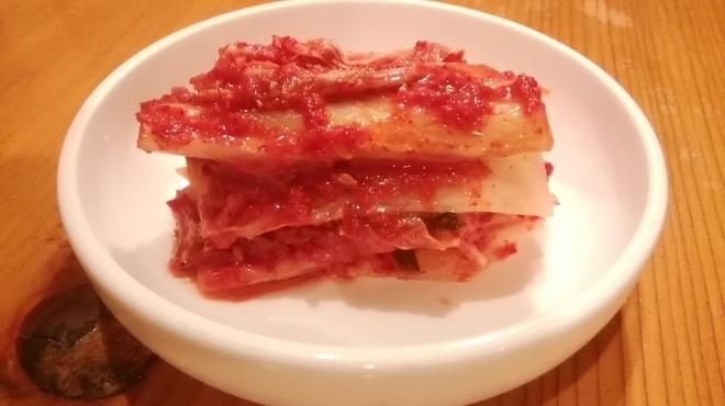 京の韓国家庭料理 ハムケ - 料理写真:豆乳やおからが入っている豆乳醗酵キムチ
