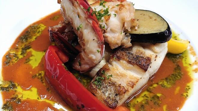 レストラン Rivage - 料理写真:オマール海老と魚の鉄板焼きセット