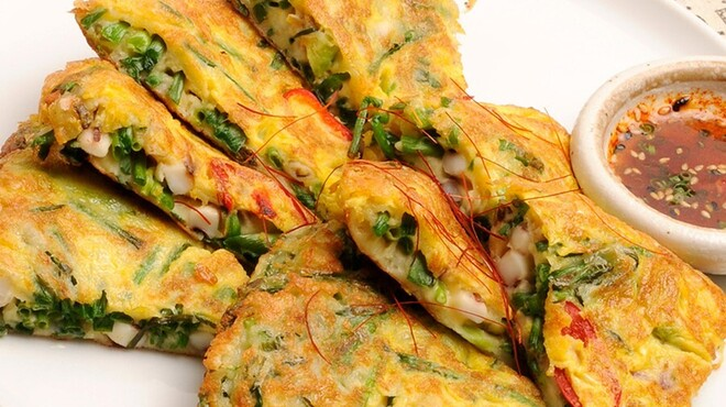 韓花 - 料理写真:海鮮ねぎチヂミ