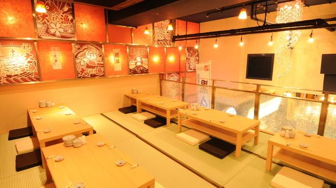 渋谷イカセンター - 内観写真:最大58名様(着席時)のご宴会のご利用可能です。