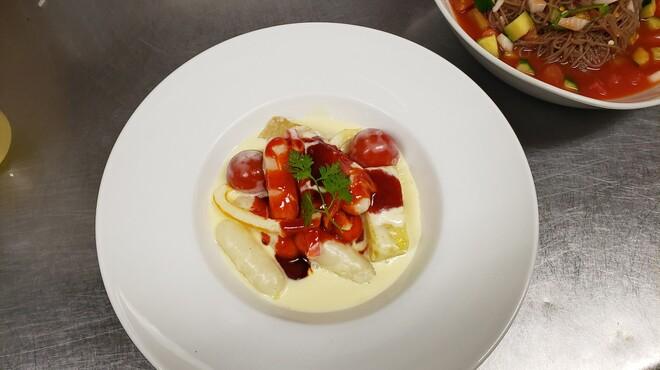 韓花 - 料理写真:クリムチーズトッポギ