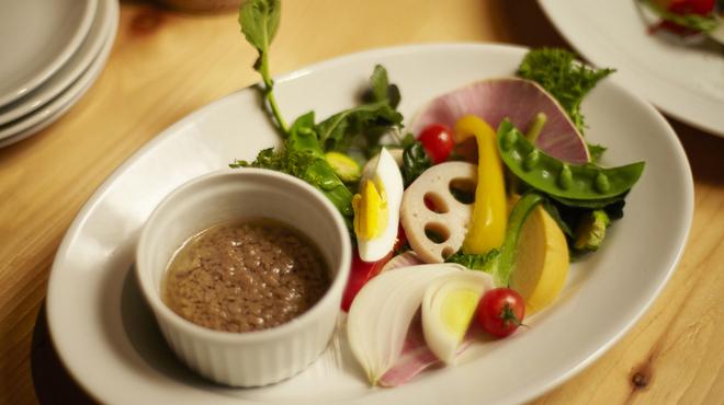 カゼ ウズマキ - 料理写真:鎌倉野菜のバーニャカウダ