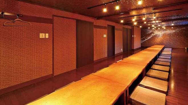 蓮 - 内観写真:40名様までの宴会にも対応できる宴会場