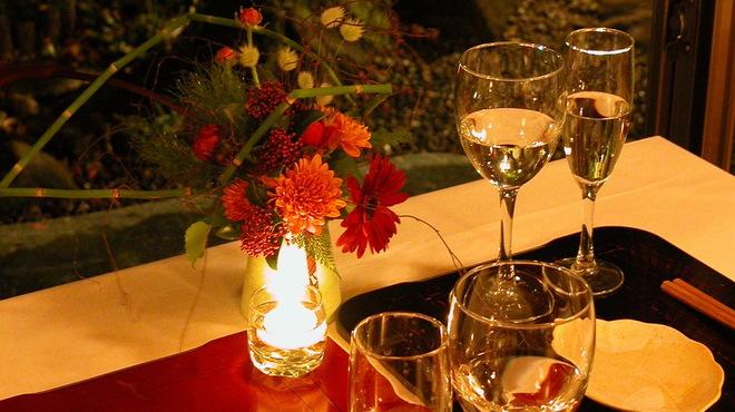 神楽坂 和らく - 内観写真:特別なお祝いの席を御用意。素敵なお食事と想い出のひとときを