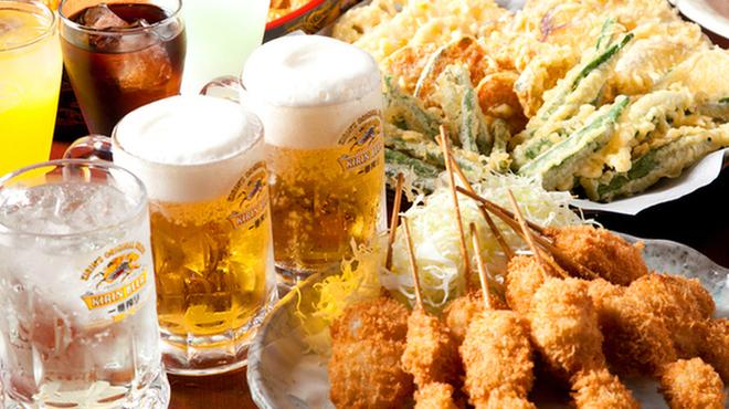 京都北山ダイニング - 料理写真:串揚げ、天ぷらなどビールに合うおつまみ料理もご用意しています。
