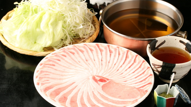 間人 - 料理写真:しゃぶしゃぶセット