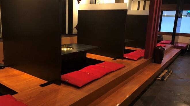 かね竹 - 内観写真:掘りごたつのお座敷席間全てに飛沫防止の頑丈なパーテーションを設置♪移動できますので大人数のご予約も♪