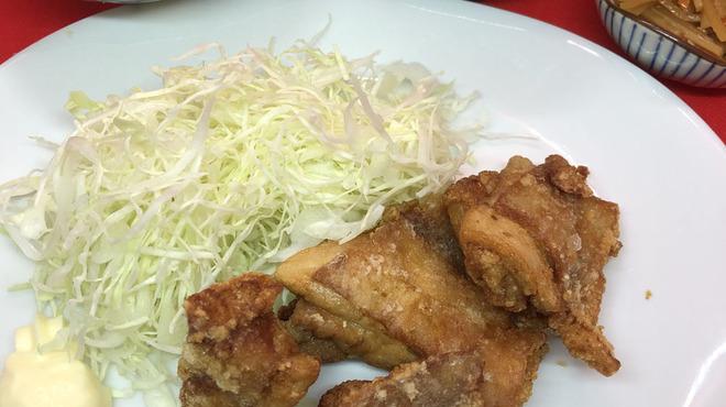 もつ鍋らく - 料理写真:ランチ鶏の唐揚げ定食700