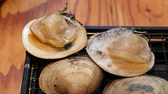 磯丸水産 - 料理写真:白蛤(ホンビノス貝)の殻焼