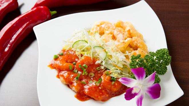 香南厨房 - 料理写真:二種海老の盛り合わせ   880円