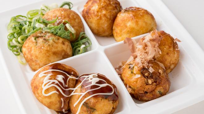 たこ焼道楽 わなか - 料理写真:おおいり ~4種の味を1皿で楽しめる!~