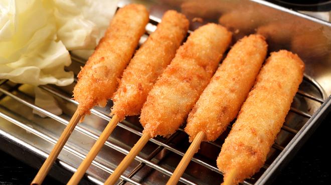 尾毛多セコ代 - 料理写真:ちょうどいい大きさの串カツ