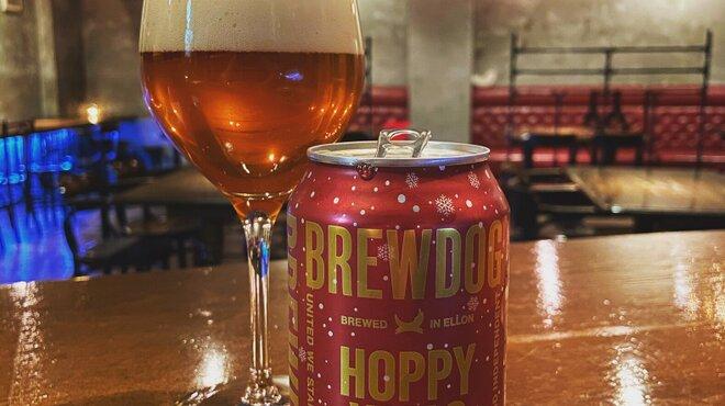 モッブスフェローズ - ドリンク写真:BREWDOG「HOPPY XMAS FESTIVE IPA」期間限定ビール!