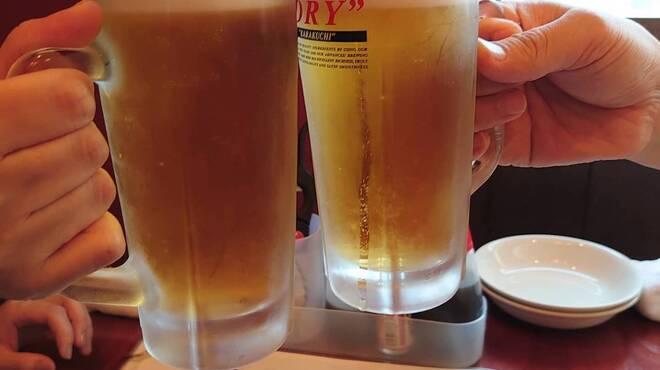 浜焼海鮮 浜タロー - ドリンク写真:冷た〜いビールで乾杯