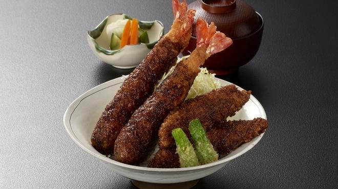 海老どて食堂 - 料理写真:海老かつソース丼定食.