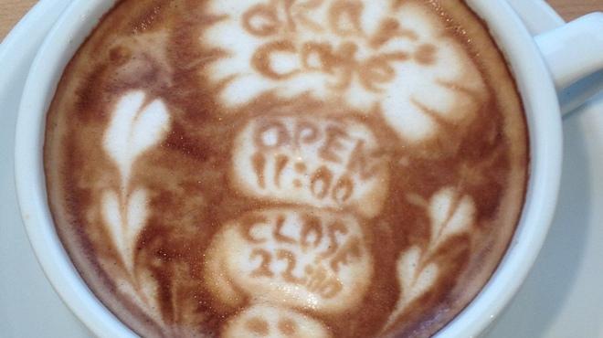 アカリ カフェ - 料理写真:カフェラテ(ホット)はサイズアップも出来ます!長く居たい時には大きめがオススメ。